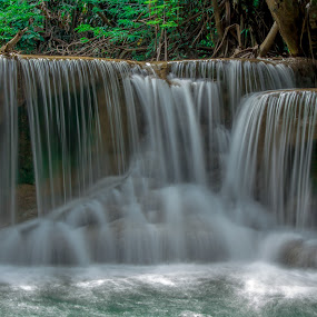Waterfall Thailand. by John Greene - Landscapes Waterscapes ( nature, waterfall, thailand, lovely, scenic, beauty, natural, kanchanaburi )