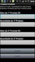 Screenshot of Comparar Produtos