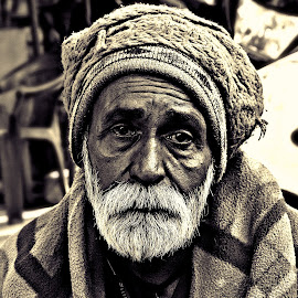 he's not old, He is helpless  by Subal Soral - People Portraits of Men