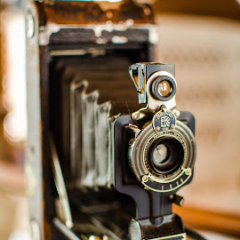 No. 1A Kodak Junior by Sara Sawatzki - Artistic Objects Antiques ( reflection, still life, camera, antique camera, antiques )