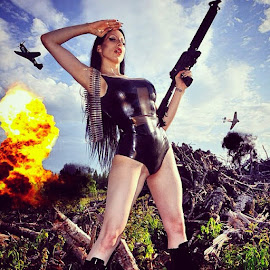 2012 shot out near by Mike Wiesner - People Body Art/Tattoos ( throwback, wabamumlake, guns, blackmetal, destruction, death, scorpiohorn, fighterplanes )