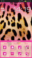 Screenshot of GO Launcher EX Pink Leopard