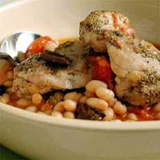 One-Dish Rosemary Chicken and White Beans
