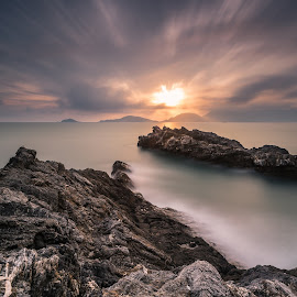 Light!! by Andrea Bertini - Landscapes Sunsets & Sunrises ( nikond810, lee, tellaro, sunset, liguria, seascape, bigstopper, italy )