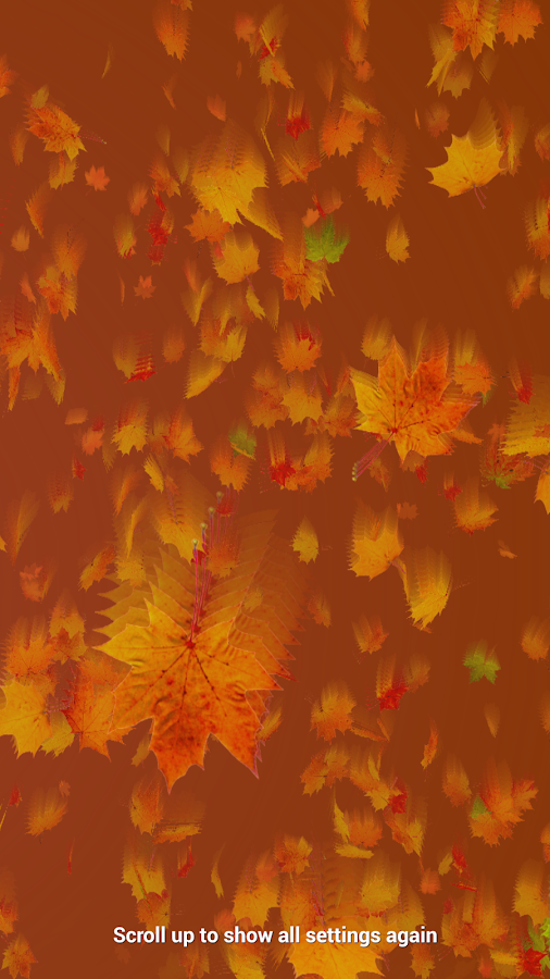 Autumn Leaves Live Wallpaper Screenshot 14