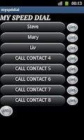 Screenshot of Speed Dialer