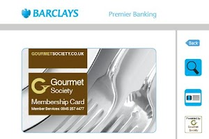 Screenshot of Barclays Premier Dining