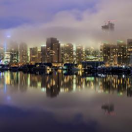 Fog City II by Nico Carbajales - City,  Street & Park  Skylines