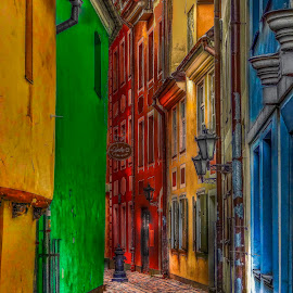by Christian Heitz - City,  Street & Park  Street Scenes