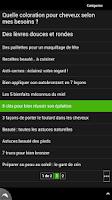 Screenshot of Conseils beauté
