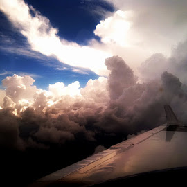 Outside my airplane window by Donna Pavlik - Transportation Airplanes