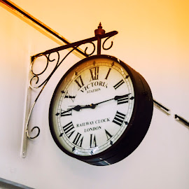 Antique Station Clock by Vimal Jangam - Novices Only Objects & Still Life ( hanging, time, hands, clock, antique )