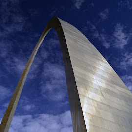 Gateway Arch by Brianna Faulkner - Buildings & Architecture Statues & Monuments ( st louis, sky, silver, gateway arch, monument )