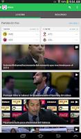 Screenshot of Univision Deportes