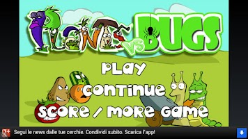 Screenshot of Plants Vs Bugs