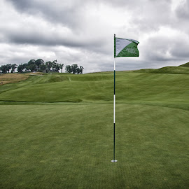 Flag On The Green by Kim Wilhite - Sports & Fitness Golf ( french lick, sports, golf, resort, pete dye )