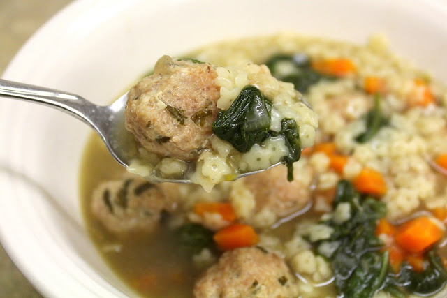 Crock Pot Italian Wedding Soup with Turkey Meatballs Recipe | Yummly