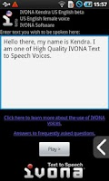 Screenshot of IVONA Text-to-Speech HQ