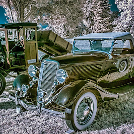 Classic antiques by Izzy Kapetanovic - Transportation Automobiles ( automobiles, car, ir, infrared, show, antique, classic )