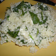 Acini Di Pepe With Spinach and Feta