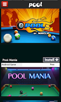 Screenshot of Pool Games