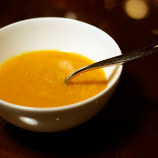 Curried Sweet Potato Soup with Apricots