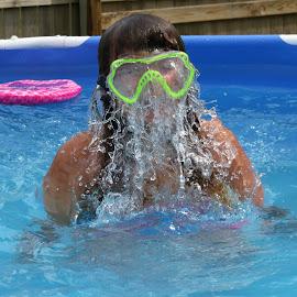 Water Mask by Cindy Cooper Houser - Babies & Children Children Candids ( water, pool, family, summer, fun,  )