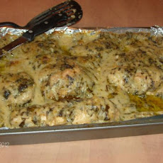 Chicken Florentine in a White Wine Sauce