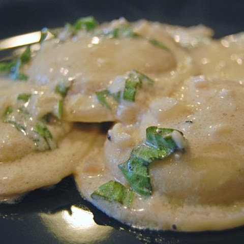 Ravioli with Red Onion, White Wine, and Asiago