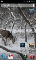 Screenshot of Winter Deer Live Wallpaper