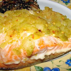 Pineapple Crusted Salmon