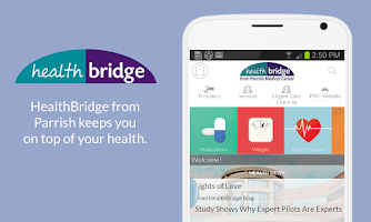 Screenshot of PMC HealthBridge