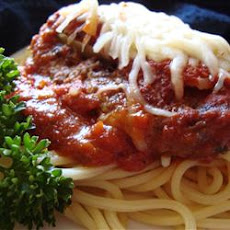 Beef Parmesan with Garlic Angel Hair Pasta