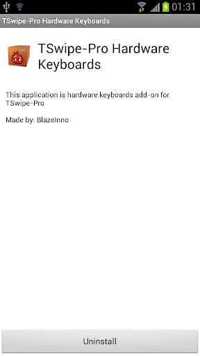 TSwipe-Pro hardware keyboards