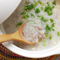 Ground Pork and Corn Congee (Chinese Rice Porridge)