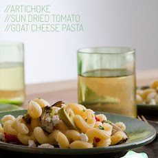 Artichoke, Sun-Dried Tomato and Goat Cheese Pasta