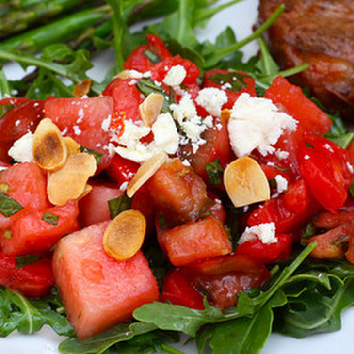 feta or cotija watermelon salad with feta mint tomato watermelon salad ...