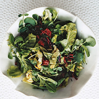 Crisp Winter Lettuces with Warm Sweet-and-Sharp Dressing