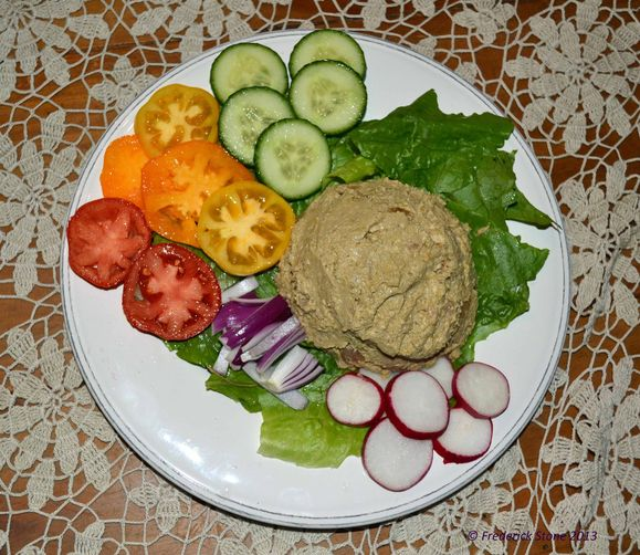 salad aunt bev s vegetarian chopped liver chopped salad with aunt bev ...