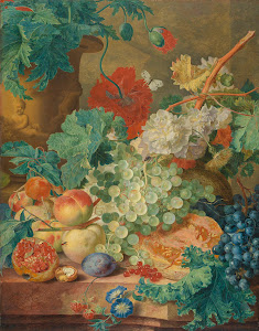 RIJKS: Jan van Huysum: Still Life with Flowers and Fruit 1728