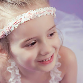 Rayla Aurora by Jenny Hammer - Babies & Children Child Portraits ( child, girl, headband, pink, cute, pretty )