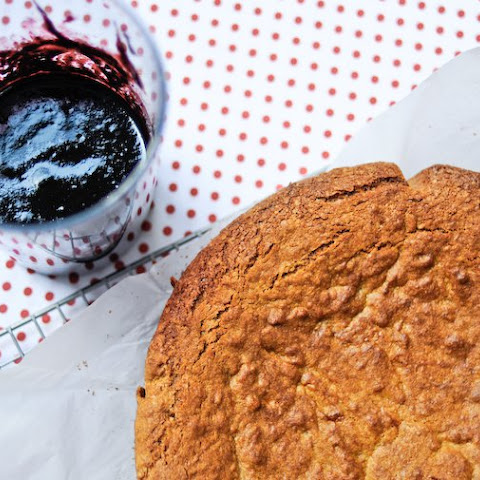 Almond Cake with Blueberry Coulis