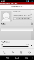 Screenshot of Visual Voice Mail Nexus