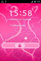 Screenshot of GO Locker Romantic Pink Hearts