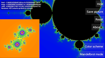 Screenshot of Mandelbrot Explorer