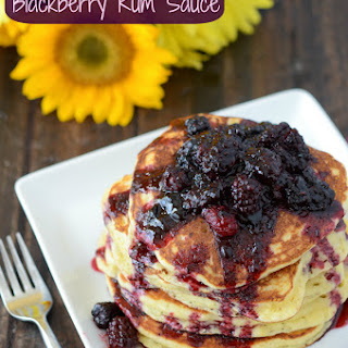 Sweet Hoecakes with Blackberry Rum Sauce