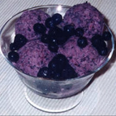 Blueberry Yogurt Ice Cream