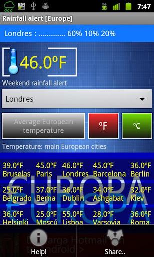 玩免費天氣APP 下載Rain - Alarm app不用錢 硬是要APP