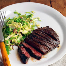 Seared Steak with Brussels Sprouts and Almonds