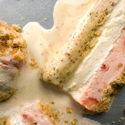 Pistachio-Strawberry Ice Cream Cake